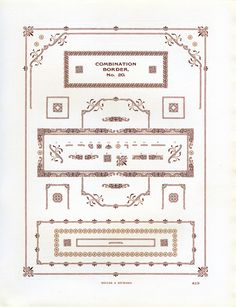 These ornamental borders were sold by Miller and Richard.