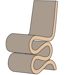 Frank Ghery - Wiggle Chair - #illustration #interiordesign