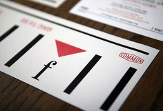 Freitags | Identity Designed #offset #card #print #design #graphic #solid #triangle