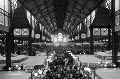 Budapest #old #white #market #budapest #black #and