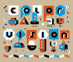 FFFFOUND! | Robots! on the Behance Network #inspiration #lettering #design #retro #robots
