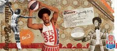 NBA 50 Greatest Players Collage Julius Erving