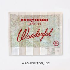 Wonderful Silk Screened Maps