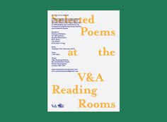 Selected Poems at the V&A 4 #poster