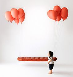 CJWHO ™ (Balloon Bench by h220430 Tokyo's h220430...) #creative #red #balloons #design #interiors #bench #balloon #clever