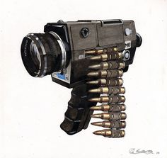 Saatchi Online Artist: Adam Wheatley; #gun #wheatley #illustration #adam #media