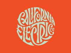 California Electric Co. by Brett Stenson #california #electric #co #typography
