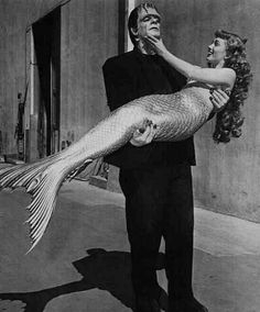 Pinned Image #frankenstein #couple #vintage #siren