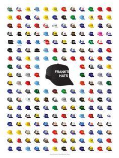 30 Rock Frank's Hats Poster #minimalism #minimalist #hats #poster