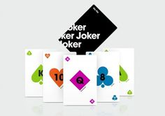 Sam Dallyn - Cards - Minimal playing cards #typography #shapes #playing cards #sam sallyn