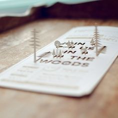 Join Us In The Woods #card #papercraft
