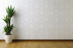 Moroccan Wallpaper by Mark Wilson #moroccan #pattern #illusion #hidden #antelope #monkey #snake #trellis #biomorphic #repeating #wallpaper #dã©cor
