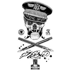 Designersgotoheaven.com - Kr3w Officer Skull... - Designers Go To Heaven #skull #king #joe #kr3w