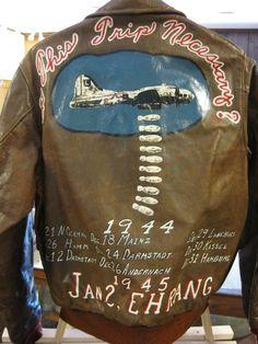 WWII bomber jacket art