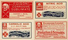 vintage-poison-labels-chemistry-halloween01.jpg (JPEG Image, 600x358 pixels) #label