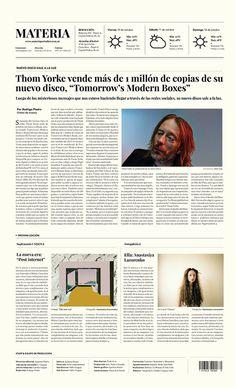 Newspaper | Periódico Materia on Behance #design #paper #newspaper #graphic