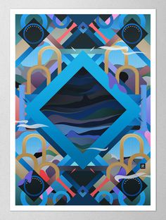 Takeshi | PICDIT #design #art #graphic #collage #painting #color #colour #work