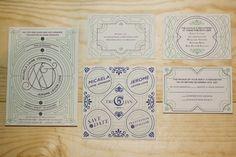Jerome and Micaela Wedding Invitation   Awesome Design Inspiration #vintage #coorporative