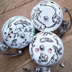#bicyclebells #cycling #bicycle #bike #ride #handmade Bicycle bells by Magic Suitcase