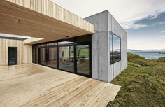 Concrete and Wood Summer House in South Iceland 3
