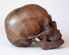 DETHJUNKIE* #wood #skull #sculpture