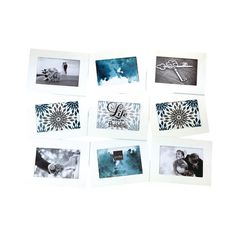 Collage Photo Frame - White Air Float, 4 cm x 15 cm - Set of 9 photos