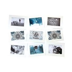 Collage Photo Frame - White Air Float, 4 cm x 15 cm - Set of 9 photos