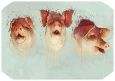 three little pigs #head #pigs #pig