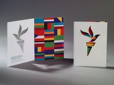 Holiday Cards | Chermayeff & Geismar #design #colors #card #flag #die #cut