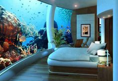 Poseidon Undersea Resort in Fiji #water #architecture #underwater #resort