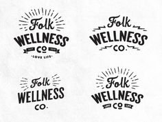 Folk Logo Concepts by Dustin Haver #logo #vintage