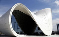CJWHO ™ (zaha hadid | heydar aliyev cultural center shapes...) #white #cultural #center #hadid #design #zaha #azerbaijan #architecture