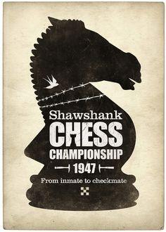 http://society6.com/product/Shawshank-Chess-Championship_Print/ #chess #print #games