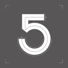 Number Postcard Series #numbers #lettering #five