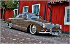 vw-karmann-ghia.jpg 1024×648 pixels #volkswagen #karmann #brown #vintage #slammed #dropped #ghia #car