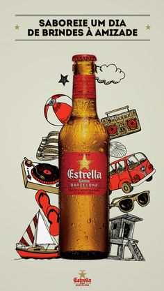 Estrella Damm (various) #illustration #poster #advertising