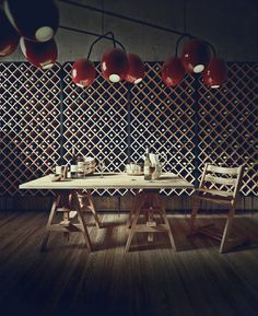 Lighting study after a design by Nika Zupanc