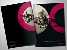 Dribbble - Driven Marketing. Corporate Brochure by Higher #circle #folder