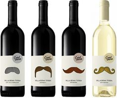Carl Wine : monkeyboy #packaging #wine #mustache