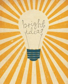 Bright Ideas by Zara Picken #poster #graphic design #typography #retro