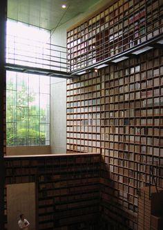 Bookshelf Porn #bookcases #libraries #interiors #wood #architecture