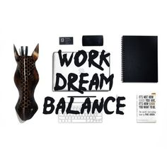 Work Dream Balance #typography #work #dream #balance #office #desk #laptop #design