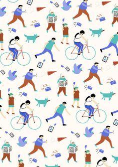 Fuchsia Macaree #illustration #pattern #hand #drawn