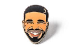 drake hotline bling Silver plated brass pin with hard enamel Black rubber pin clutch