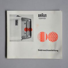 Braun Catalog #braun #cover #design #catalog