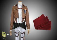 Attack on Titan Mikasa Ackerman Cosplay Costume Scouting Legion #cosplay #costume #mikasa #ackerman