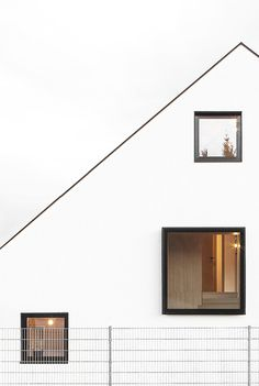 Haus B by Format Elf Architekten. #window #gabledroof #formatelfarchitekten #architecture #minimalist