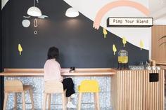Blend Station Identity & Interior - Mindsparkle Mag Futura designed the identity and interior for Blend Statios. #logo #packaging #identity #branding #design #color #photography #graphic #design #gallery #blog #project #mindsparkle #mag #beautiful #portfolio #designer