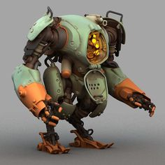 pintrest # robot #green #orange