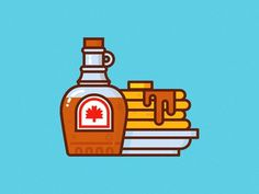 Oh, Canada #canada #pancakes #syrup #illustration #maple